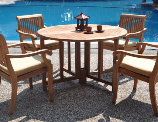 Luxurious-grade-a-teak-dining-set